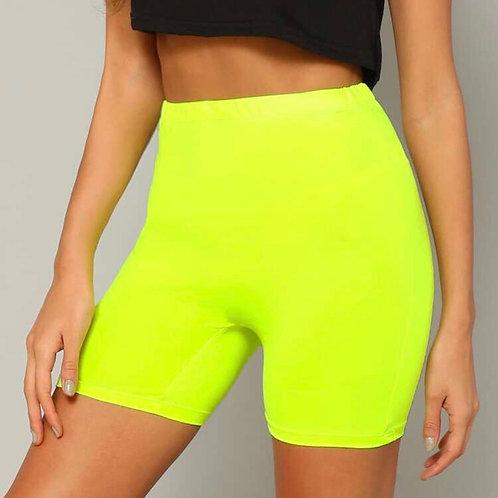 Solid Neon Biker Shorts