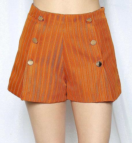 Pinstripe High Waisted Shorts