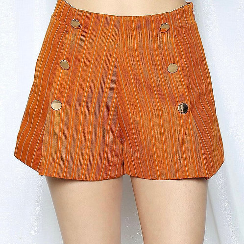 Pinstripe High Waisted Shorts