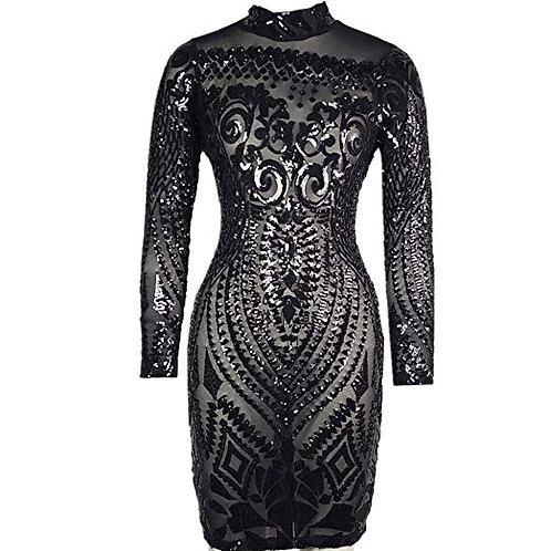 Geometric Sequin Dress