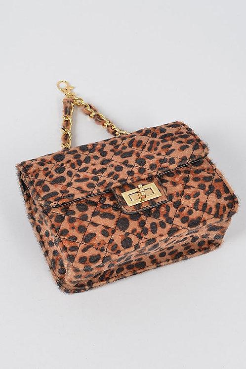 Leopard Chain Purse
