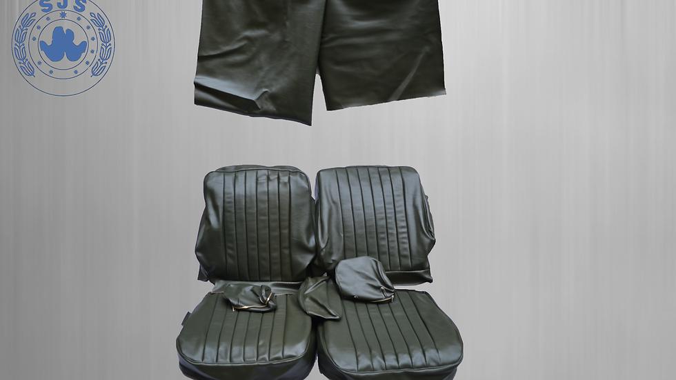 Sitzbezüge für die Vordersitze Mercedes SL R/W107, SLC dunkelgrün ab Bj.85