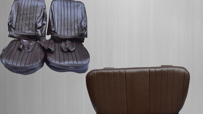 Sitzbezüge + Rückbank , braun Paket für Mercedes SL R/W107