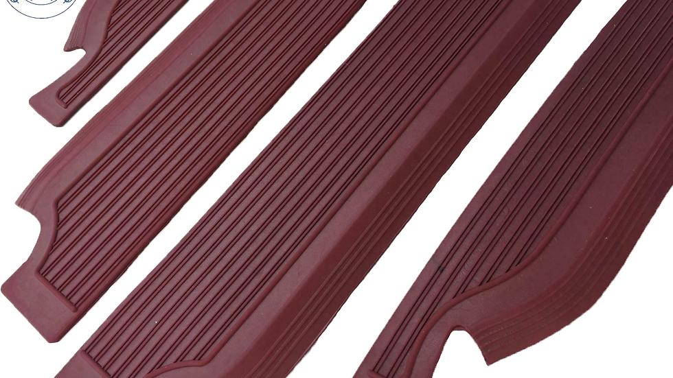 Gummi Einstiegsleisten Schweller Beläge für Mercedes W109,burgundy dunkelrot