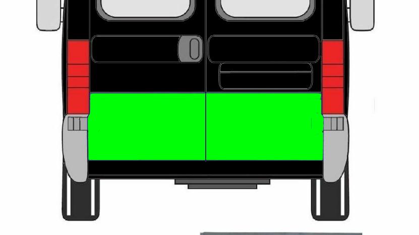 hecktür - Reparaturblech außen Rechts für Fiat Ducato 1994-2006