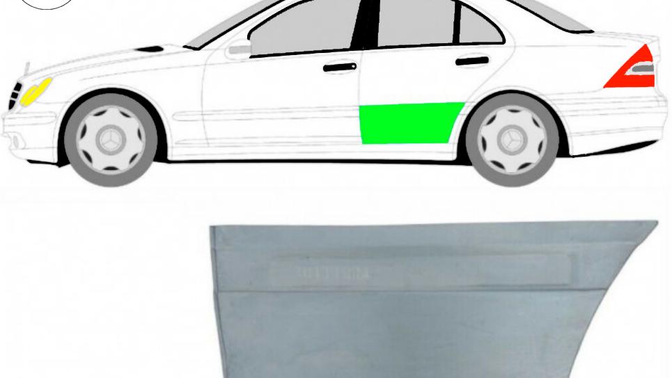 Hintere Tür Reparaturblech / Links für Mercedes C-Klasse W203 2000-2007