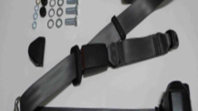 Dreipunkt Automatik Sicherheitsgurt hinten,grau,30cm Bandschloss für W124