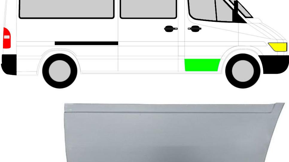 Front Tür unten Reparaturblech/ Rechts für Mercedes Sprinter VW LT 95-06