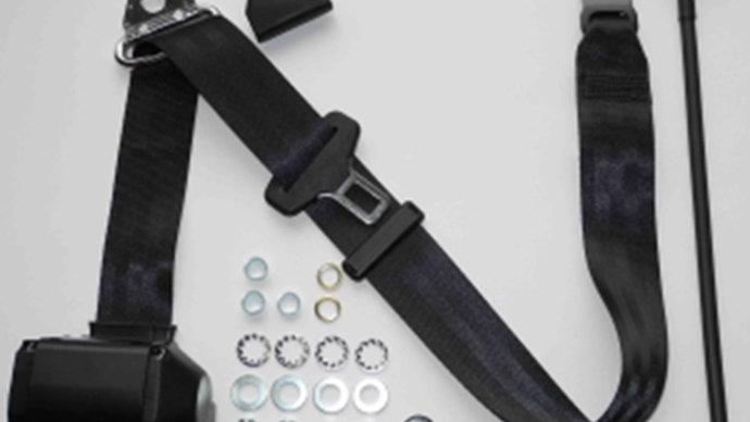Dreipunkt Automatik Sicherheitsgurt,schwarz,45cm Peitsche für Ponton