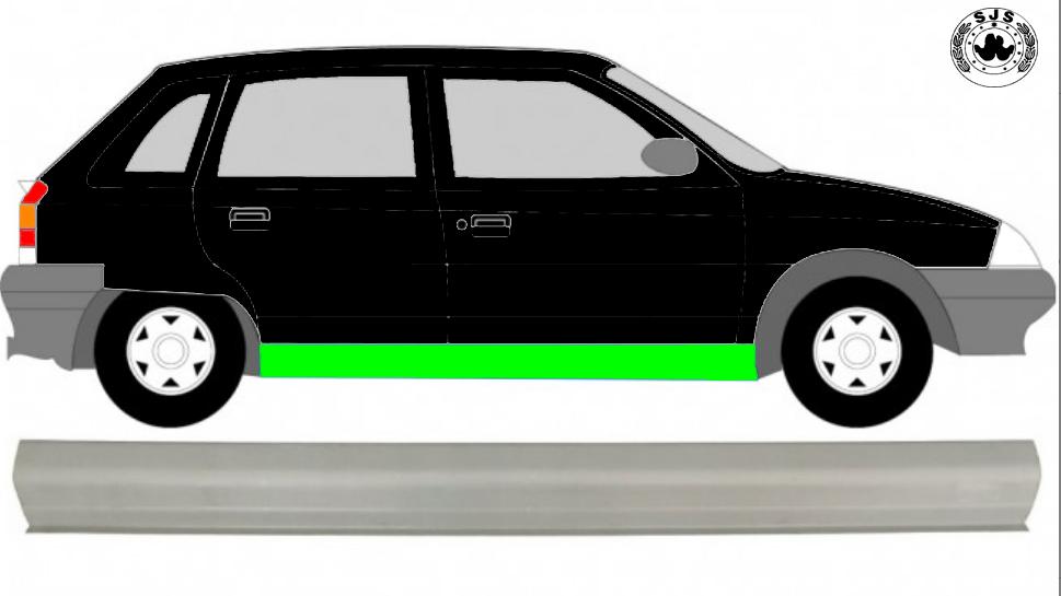 Schweller Reparaturblech / Rechts = Links / Symmetrisch für Citroen AX 1986-1998