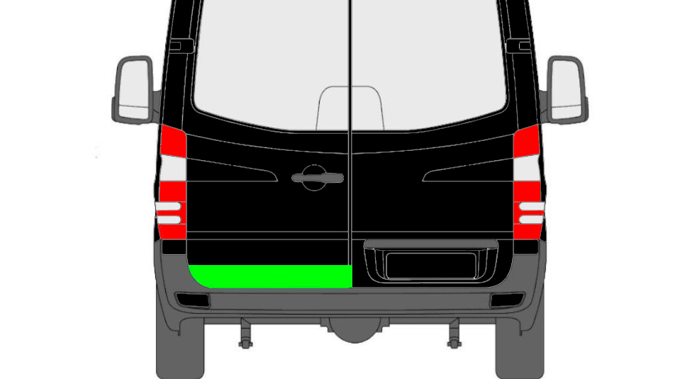 Hinten Tür Innen Reparaturblech / Links für Mercedes Sprinter VW Crafter 06-