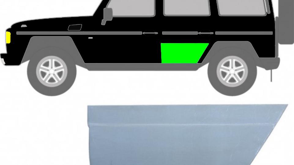 Hintere Tür Reparaturblech / Links für Mercedes G-Klasse W460 W461 W463