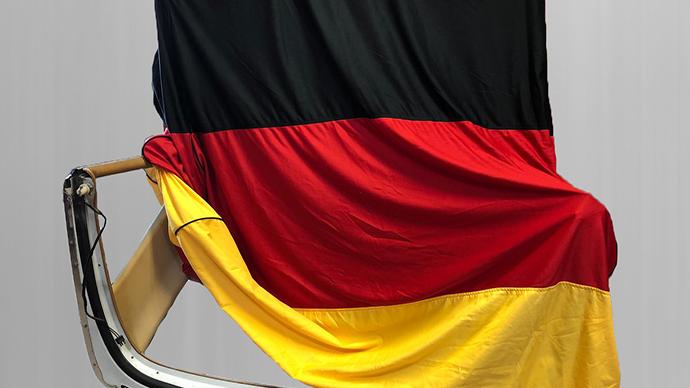 Hardtopcover Staubschutzhülle Schutzcover Deutschlandflagge + Hardtopständer