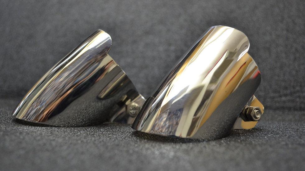 Chrome Auspuffblende Doppelrohranlage für Mercedes W123, W124, W201,W116,W126