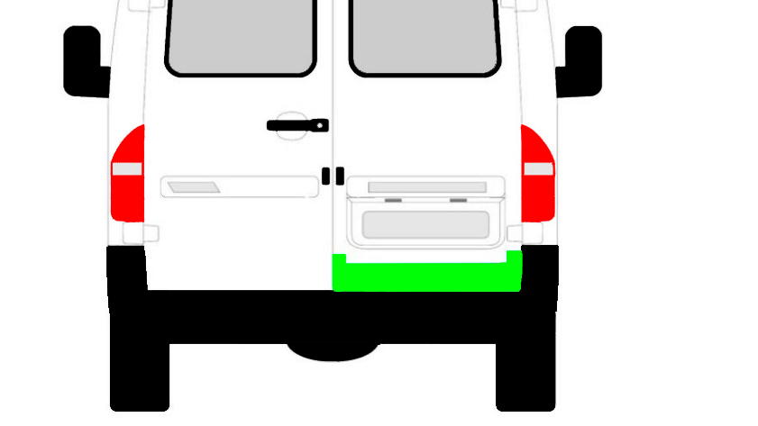 Hinten Tür Innen Reparaturblech / Rechts für Mercedes Sprinter VW LT 1995-2006