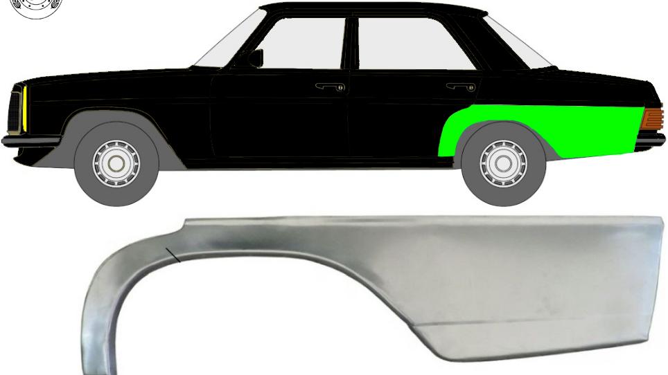 Hinten Kotflügel Reparaturblech Radlauf / Links für Mercedes W114 / W115 68-77