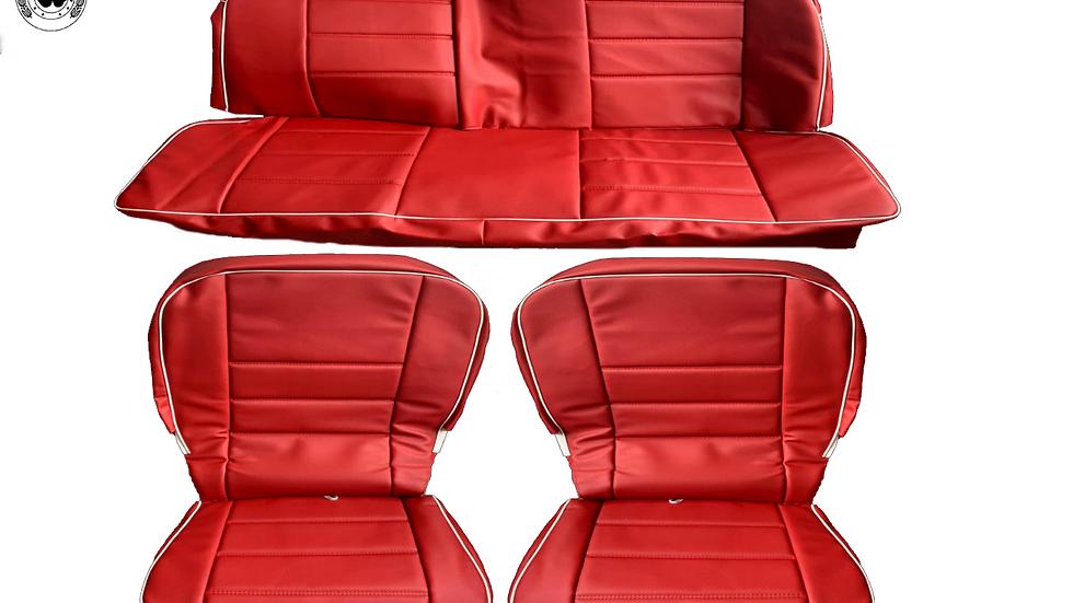 Sitzbezüge Schonbezüge Tür-Seitenverkleidung für VW Käfer 1300-1303 , rot