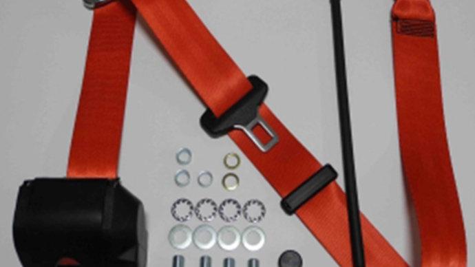 Dreipunkt Automatik Sicherheitsgurt,rot,für W114/W115