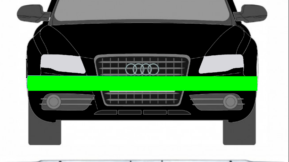 Frontstoßstange Querträger verstärker für Audi A5 / S5 2007-2012