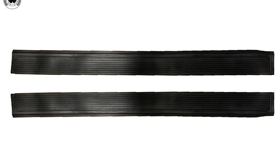 Gummi Einstiegsleisten Schweller für Mercedes SL107 R107/W107 schwarz