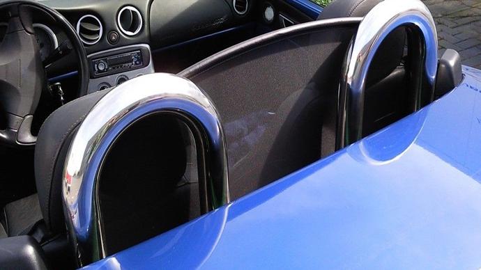 Roadsterbügel + Windschott Windstop Windschutz für Fiat Barchetta 1995-2005