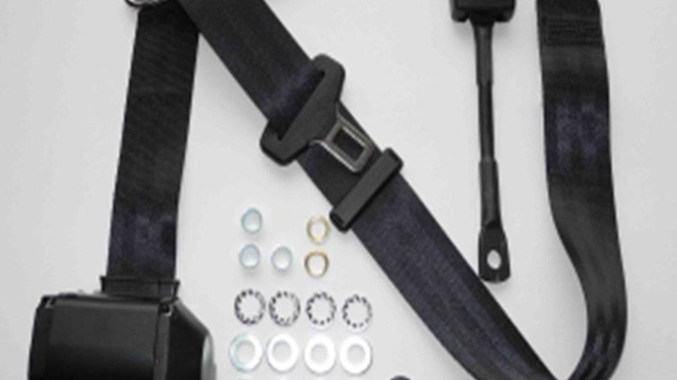 Dreipunkt Automatik Sicherheitsgurt,schwarz,22cm Gurtpeitsche,für 190 SL
