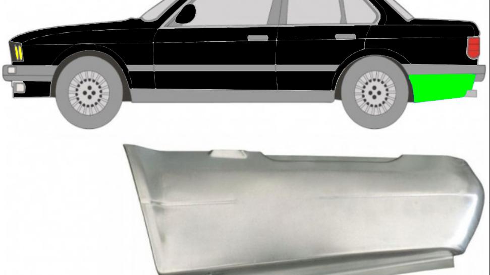Hinten Kotflügel Reparaturblech / Links für BMW 3er 3 E30 1987-1994 2/4 Tür