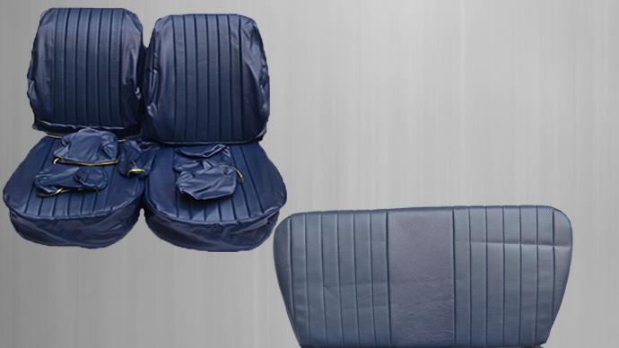 Sitzbezüge + Rückbank , blau Paket für Mercedes SL R/W107
