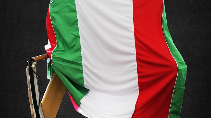 Hardtopcover Staubschutzhülle Schutzcover Italienflagge Fahnen Design Italia