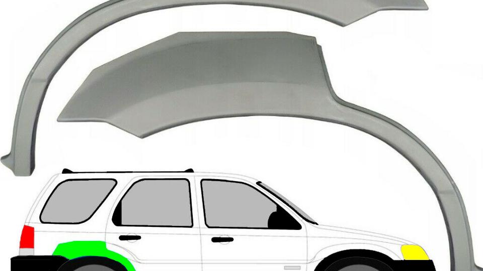Radlauf Reparaturblech Kotflügel /Paar für Ford Maverick Mazda Tribute 2001-2008