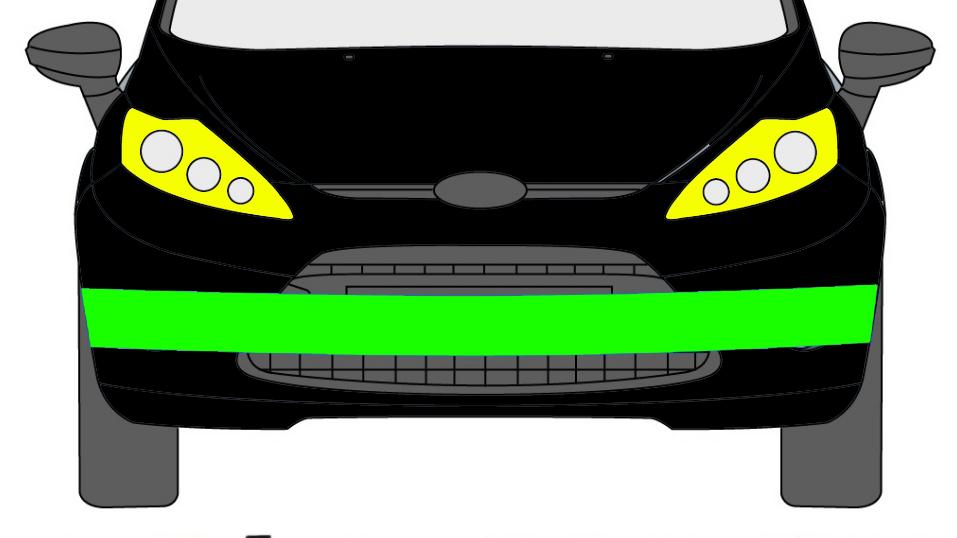 Vorne Stoßstange Verstärkung Träger für Ford Fiesta 2008-2017
