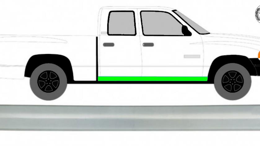 2/4 Tür Schweller Reparaturblech / Rechts = Links für Dodge Ram 2002-2008