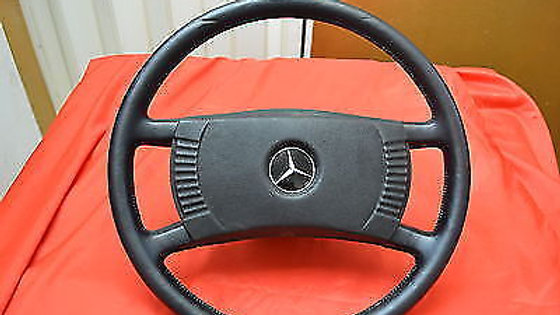 Original Mercedes steering wheel newly covered fine artificial leather black