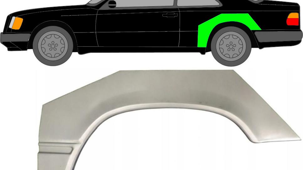 Radlauf Reparaturblech Kotflügel/ links für Mercedes E-Klasse W124 Coupe 84-96