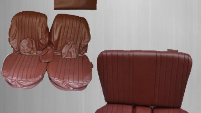 Sitzbezüge + Rückbank , dunkelrot Paket für Mercedes SL R/W107