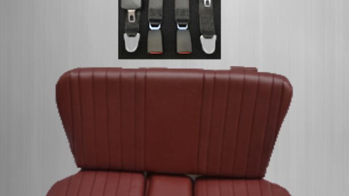 Rückbank Notsitz Kindersitz für Mercedes SL R/W107,dunkelrot+Sicherheitsgurt