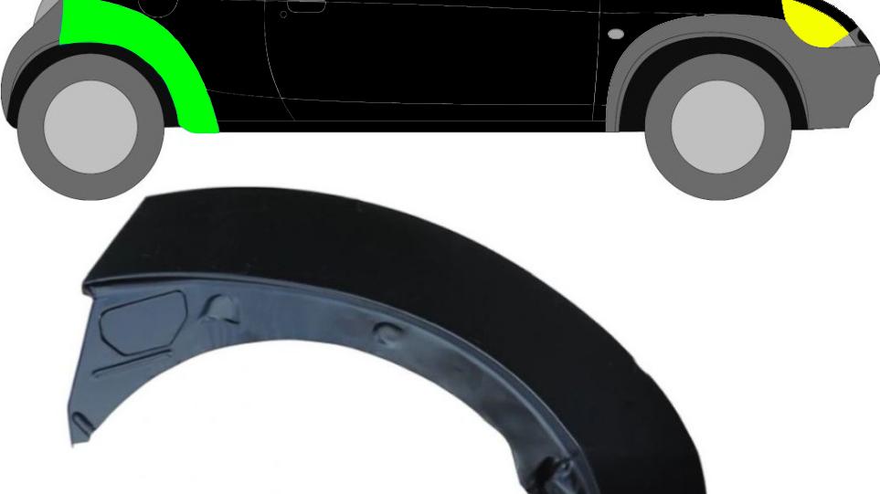 Radlauf Reparaturblech Kotflügel / Rechts für Ford KA 1996-2008