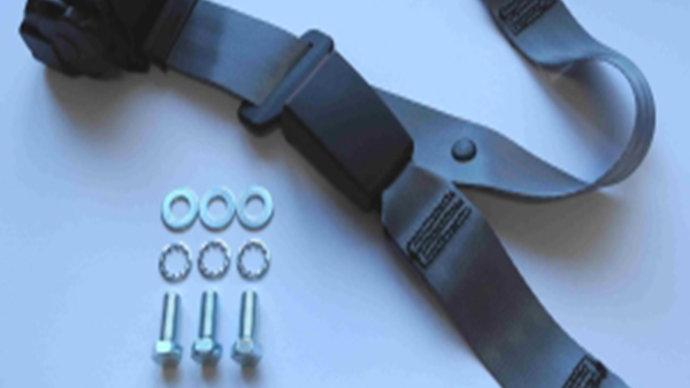 Dreipunkt Automatik Sicherheitsgurt hinten,30cm Bandschloss,grau,für Ponton
