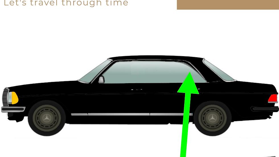 Abdichtung Seitenfenster links hinten für Mercedes W123 Coupé links