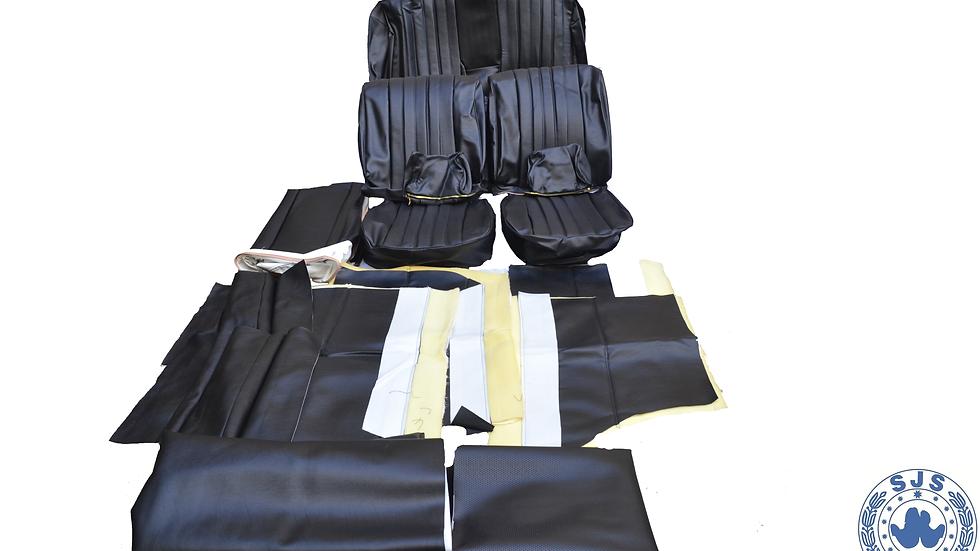 Sitzbezüge für Mercedes  W111 W110 190 Heckflosse Kunstleder schwarz