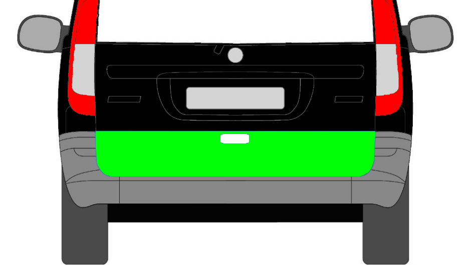 Heckklappe Hinten Reparaturblech Niedriger für Mercedes Vito Viano W639 2003-14