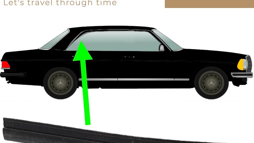 Abdichtung Seitenfenster rechts hinten für Mercedes W123 Coupé rechts