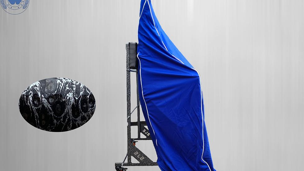 Hardtopcover Staubschutzhülle blau + Hardtopständer für Mercedes SL R107