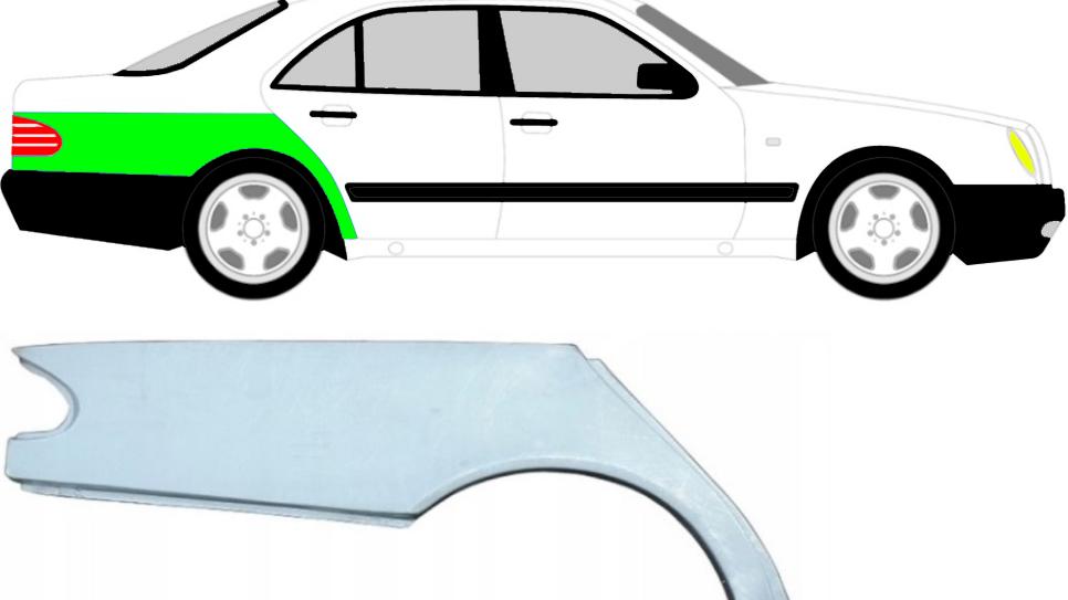 Radlauf Reparaturblech Kotflügel / Rechts für Mercedes E-Klasse W210 95-03 Limo