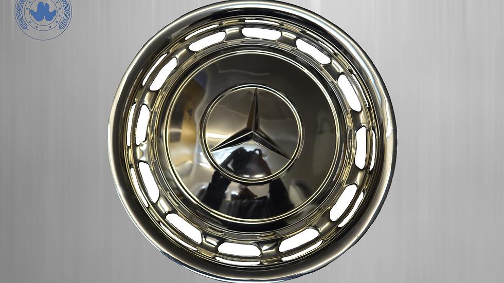 Original Mercedes chrome wheel cap W123 W126 W116 W107 W108 W 109