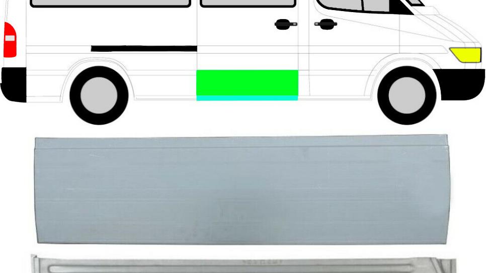 Schiebetür Reparaturblech Außen Innen / Satz für Mercedes Sprinter VW LT 95-06