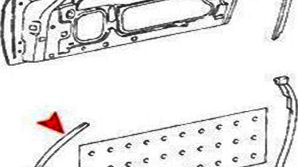 Dichtung Rechte Tür Wetterdichtung Türdichtung Gummi für Mercedes-Benz SL 107