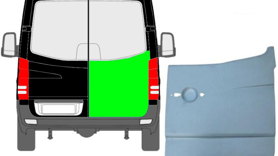 Hinten Tür Reparaturblech Außen / Rechts für Mercedes Sprinter VW Crafter 06-