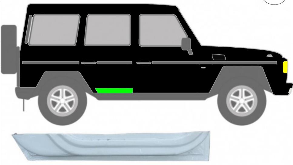 Hinten Tür Innen Reparaturblech / Rechts für Mercedes G-Klasse W460 W461 W463