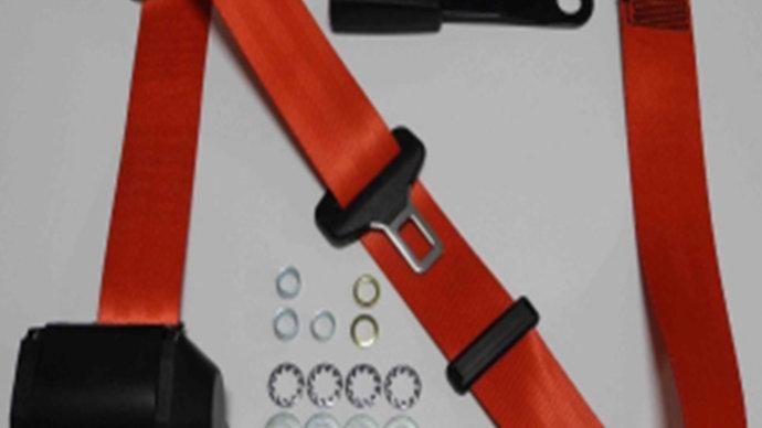 Dreipunkt Automatik Sicherheitsgurt,rot,15cm Laschenschloss,für W116